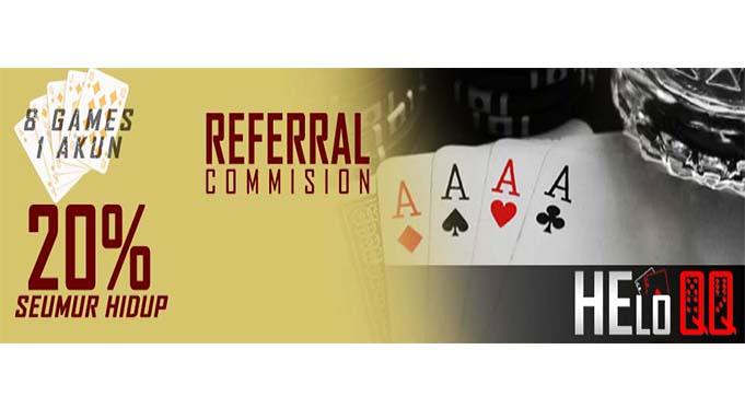 bonus referral poker online terpercaya